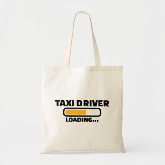 Taxi driver loading tote bag