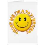 Taxi Driver Trust Me Greeting Card