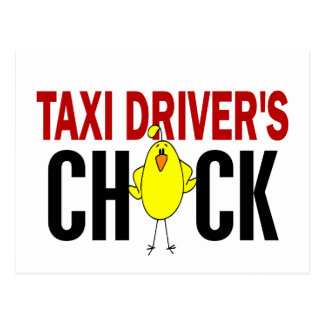 Taxi Driver's Chick Postcard