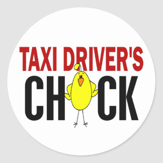 Taxi Driver's Chick Stickers