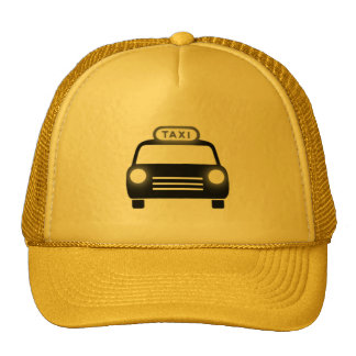 Taxi en negro y blanco gorra