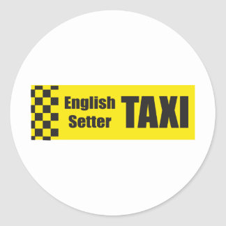 Taxi English Setter Stickers