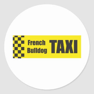 Taxi French Bulldog Stickers