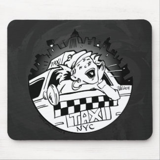 Taxi Girl Mouse Pad