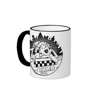 Taxi Girl Ringer Mug