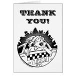 Taxi Girl Thank You Shout Out Cards