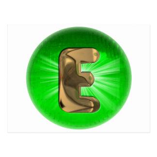 TAXI Gold Monogram E Green light Post Card