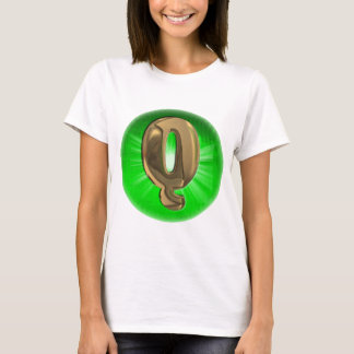 TAXI Gold Monogram Q Green light T-Shirt