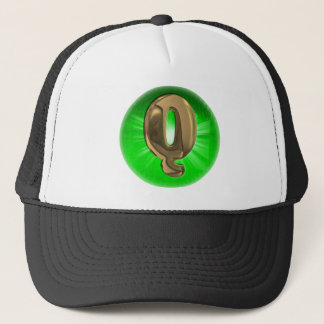 TAXI Gold Monogram Q Green light Trucker Hat