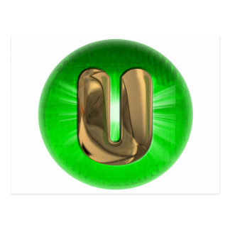 TAXI Gold Monogram U Green light Post Cards