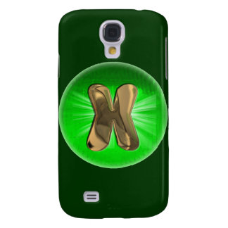 TAXI Gold Monogram X Green light Galaxy S4 Case