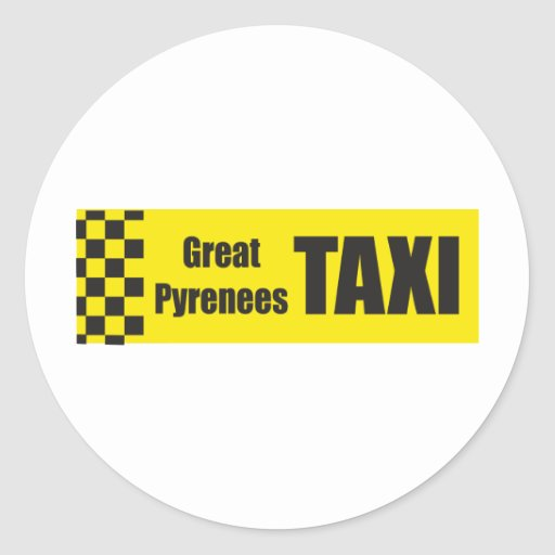 Taxi Great Pyrenees Sticker