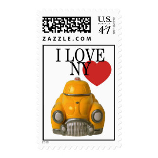 Taxi I love NY or NYC Postage Stamp