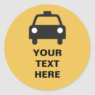 Taxi Icon with custom text Transportation sticker