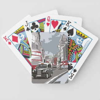 Taxi in London Bicycle Playing Cards