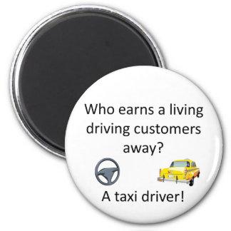 Taxi Joke Magnet