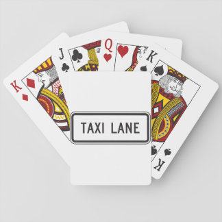 Taxi Lane Sign Playing Cards