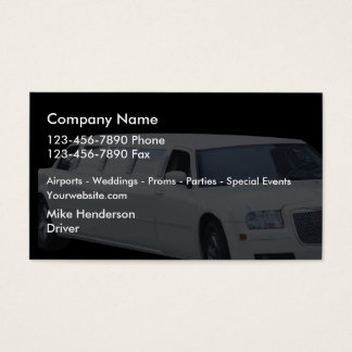 Taxi Limousine Business Card