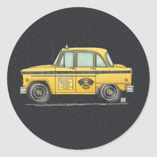 Taxi lindo pegatinas redondas