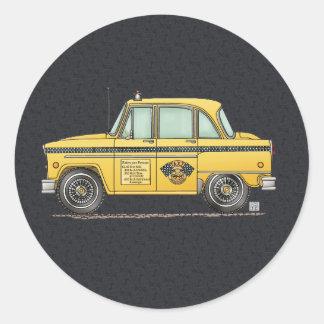 Taxi lindo pegatina redonda