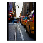 Taxi Line-up in NYC Postcard