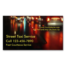 Taxi Magnetic Business Card at Zazzle