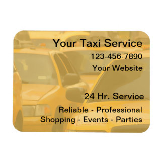 Taxi Magnetic Business Cards Flexible Magnet