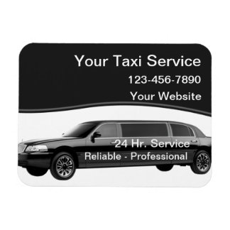 Taxi Magnetic Business Cards Magnet