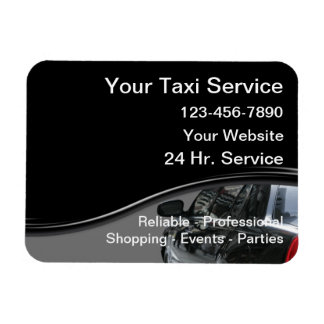 Taxi Magnetic Business Cards Rectangular Photo Magnet