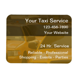 Taxi Magnetic Business Cards Vinyl Magnets