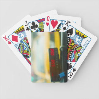 Taxi Meter Bicycle Playing Cards