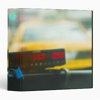 Taxi Meter Vinyl Binder
