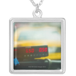 Taxi Meter Silver Plated Necklace