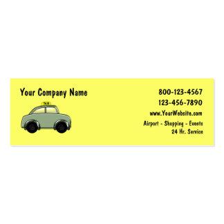 Taxi Mini Business Cards