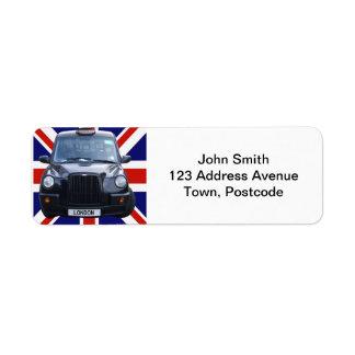 Taxi negro de Londres Etiquetas De Remite