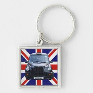 Taxi negro de Londres Llavero Personalizado