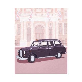 Taxi negro de Londres Lona Estirada Galerías