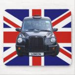 Taxi negro de Londres Tapetes De Ratón