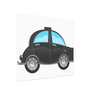 Taxi negro lona envuelta para galerías
