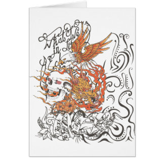 taxi nyc soul skull dragon eagle tattoo graphic card
