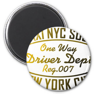 taxi nyc soul urban graphic magnet