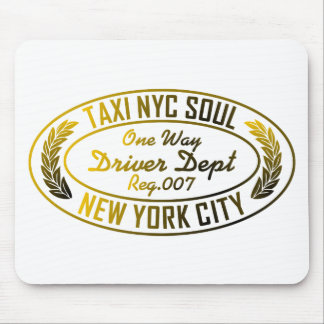 taxi nyc soul urban graphic mouse pad