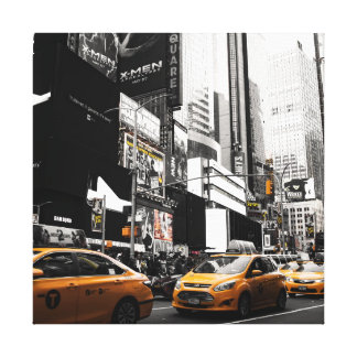 Taxi NYC square canvas print