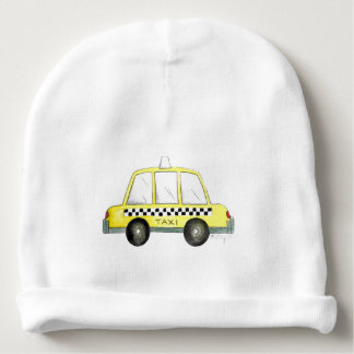 Taxi NYC Yellow New York City Checkered Cab Car Baby Beanie
