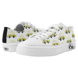 Taxi NYC Yellow New York City Checkered Cab Print Low-Top Sneakers
