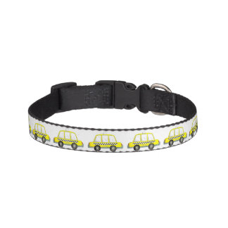 Taxi NYC Yellow New York City Checkered Cab Print Pet Collar