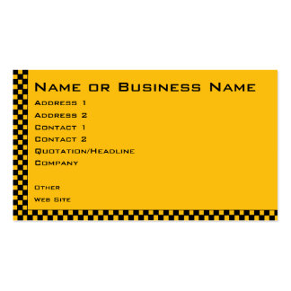 Taxi or Cab Service Business Profile Card Double-Sided Standard Business Cards (Pack Of 100)