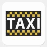 Taxi Pegatina Cuadrada