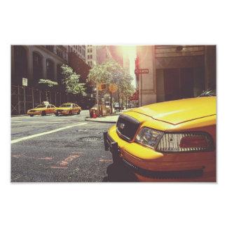 taxi photo print