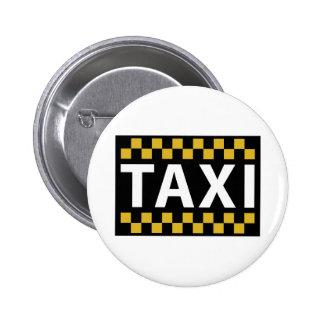 Taxi Pinback Button